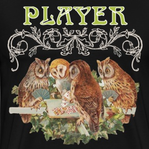 Owls Playing Cards - Men's Premium T-Shirt