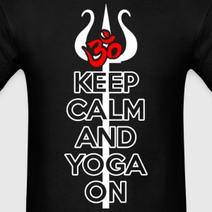 Keep Calm and Yoga On T-Shirts - Men's T-Shirt