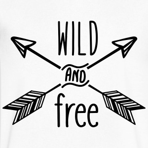 AD Wild and Free T-Shirts - Men's V-Neck T-Shirt by Canvas