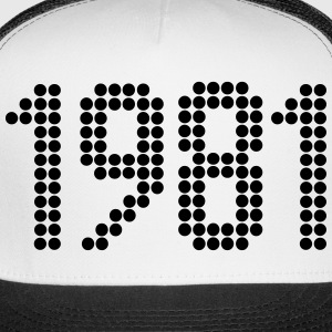 1981, Numbers, Year, Year Of Birth Sportswear - Trucker Cap