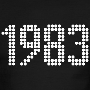 1983, Numbers, Year, Year Of Birth T-Shirts - Men's Ringer T-Shirt