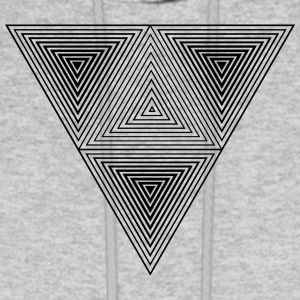 Optical illusion (Hipster triangle) Black & White  Hoodies - Men's Hoodie