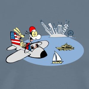 Men's Funny nautiCal Chicago Air Show T-Shirt - Men's Premium T-Shirt