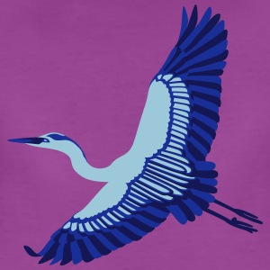 A Beautiful Blue Heron - Women's Premium T-Shirt