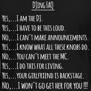 DJing FAQ back T-Shirts - Women's Premium T-Shirt