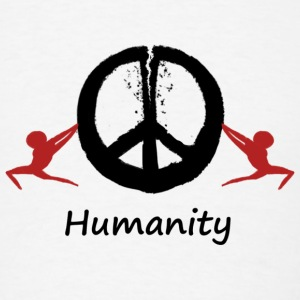 Humanity tearing peace apart - Men's T-Shirt