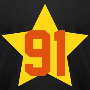 91_star T-Shirts - Men's T-Shirt by American Apparel