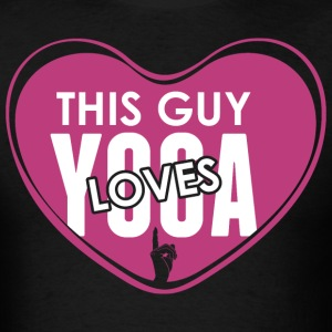 This Guy Loves Yoga - Men's T-Shirt