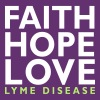 Faith, Hope, Love. Lyme Disease awareness top - Women's Premium Tank Top