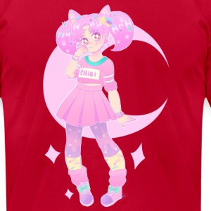 Chibi Moon - Men's T-Shirt by American Apparel