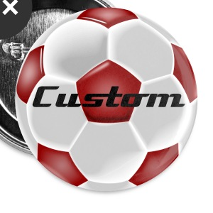 Custom Red Soccer Ball Magnets - Large Buttons