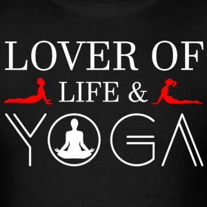 Lover Of Life & Yoga - Men's T-Shirt