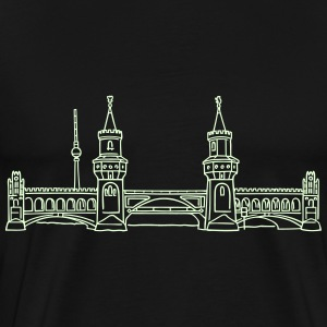 Oberbaum Bridge in Berlin (glows in dark) - Men's Premium T-Shirt