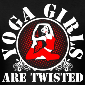 Yoga Gilrs Are Twisted - Men's T-Shirt