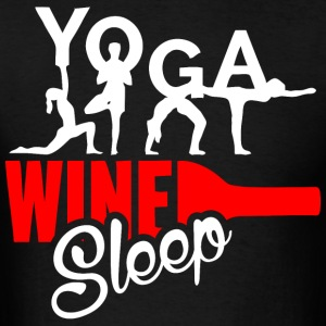 Yoga Wine Sleep - Men's T-Shirt
