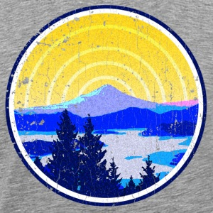 Vintage Golden Mountain Sunrise - Men's Premium T-Shirt