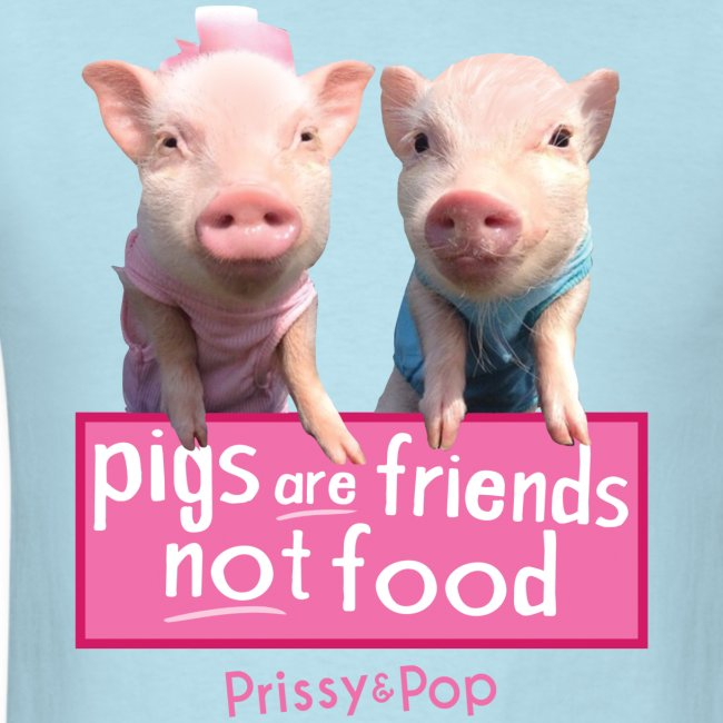 Pigs Are Friends Not Food Mens Shirt