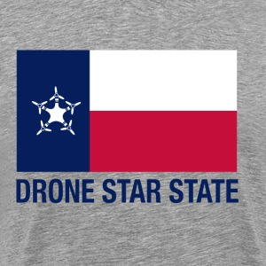 Drone Star State - Gray - Men's Premium T-Shirt