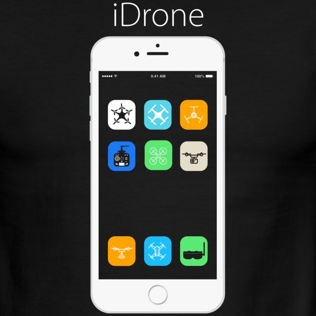 iDrone - Black with White Ring