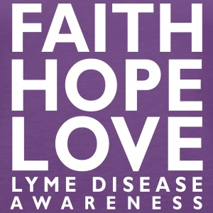 Faith Love Hope. Lyme Disease Awareness Tank - Women's Premium Tank Top