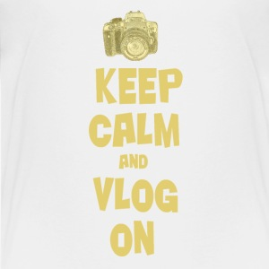 Keep Calm and Vlog On - Kids' Premium T-Shirt
