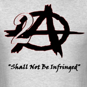 2A Anarchy blk font T-Shirts - Men's T-Shirt