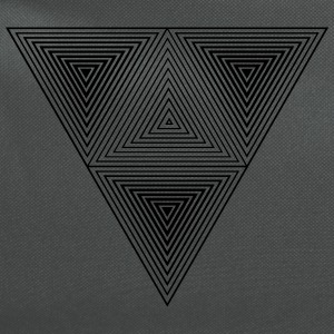 Optical illusion (Hipster triangle) Black & White  Bags & backpacks - Computer Backpack