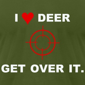 i love deer T-Shirts - Men's T-Shirt by American Apparel
