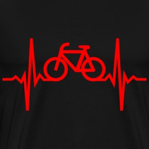 heartbeat of a cyclist T-Shirts - Men's Premium T-Shirt
