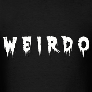 weirdo black tee - Men's T-Shirt