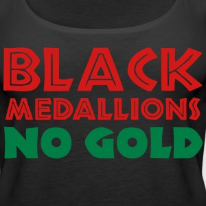 BLACK MEDALLIONS NO GOLD Tanks - Women's Premium Tank Top