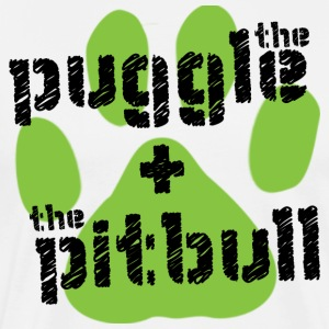 The Puggle & The Pitbull - Men's Premium T-Shirt