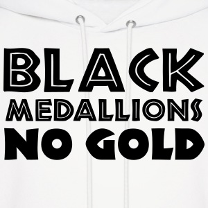 BLACK MEDALLIONS NO GOLD Hoodies - Men's Hoodie