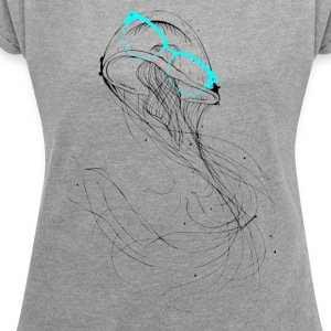 Chill Jellyfish T-Shirts - Women´s Rolled Sleeve Boxy T-Shirt