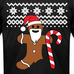 Gingerbread man t-shirt | Ugly Christmas tee - Men's T-Shirt by American Apparel
