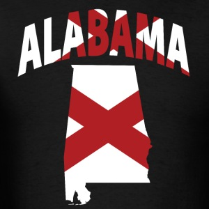 Alabama Flag In Alabama Map - Men's T-Shirt