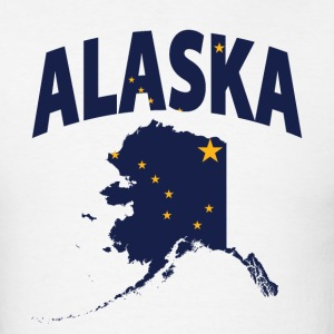 Alaska flag in Alaska map t-shirt - Men's T-Shirt