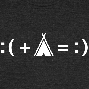 Formula For Happiness (Camping) T-Shirts - Unisex Tri-Blend T-Shirt by American Apparel