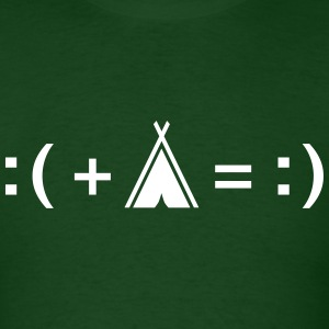Formula For Happiness (Camping) T-Shirts - Men's T-Shirt
