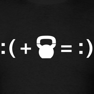 Formula For Happiness (Kettlebell) T-Shirts - Men's T-Shirt