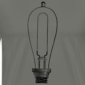 Edison Light Bulb Men's T-Shirt - Men's Premium T-Shirt