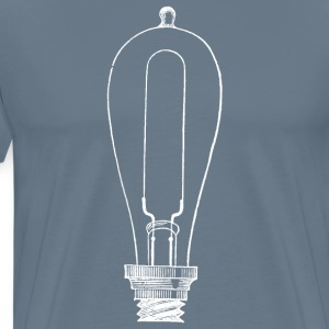 White Edison Light Bulb Men's T-Shirt - Men's Premium T-Shirt