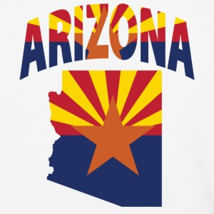 Arizona flag in Arizona map baseball tee - Baseball T-Shirt