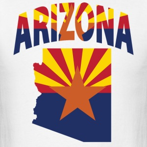 Arizona flag in Arizona map t-shirt - Men's T-Shirt