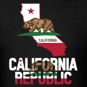 California Flag Clipped In California Map T-Shirt - Men's T-Shirt