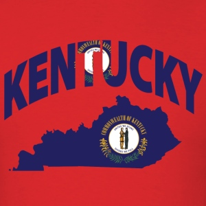 Kentucky Flag in Kentucky Map T-Shirt - Men's T-Shirt