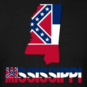 Mississippi Flag In Mississippi Map T-Shirt - Men's T-Shirt