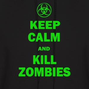Keep Calm And Kill Zombies Hoodies - Men's Hoodie