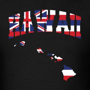 Hawaii Flag In Hawaii Map T-Shirt - Men's T-Shirt