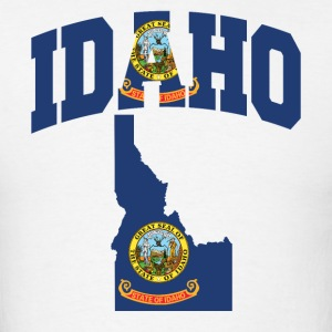 Idaho Flag In Idaho Map T-Shirt - Men's T-Shirt